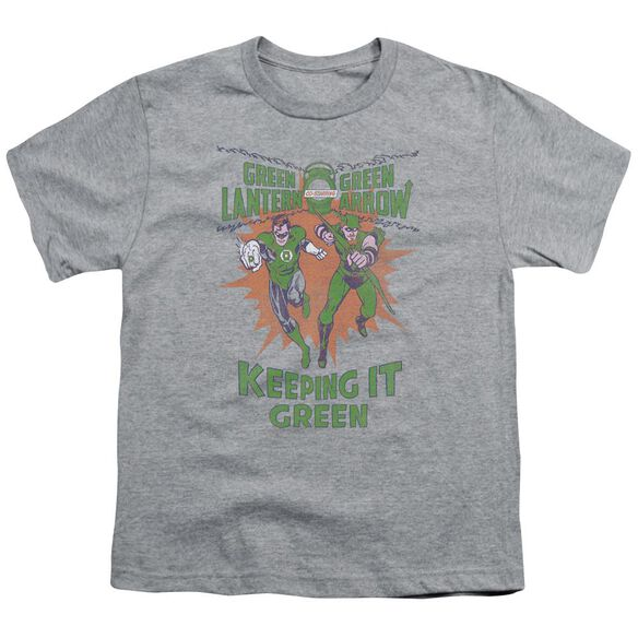 Green Lantern Keeping It Green Short Sleeve Youth Athletic T-Shirt