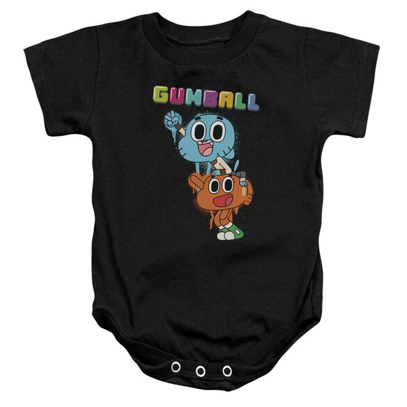 Amazing World Of Gumball Gumball Spray Infant Snapsuit Black