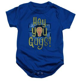 Electric Company Hey You Guys Infant Snapsuit Royal Blue