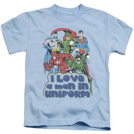 Dc I Love A Man In Uniform Short Sleeve Juvenile Light Blue Md T-Shirt