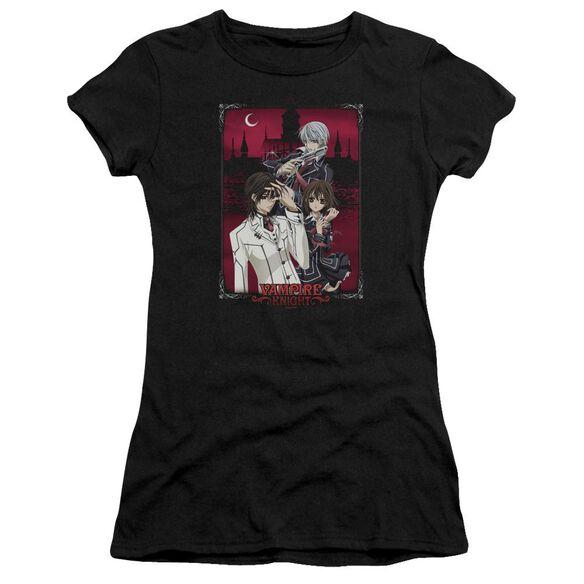 Vampire Knight Castle Pose Short Sleeve Junior Sheer T-Shirt
