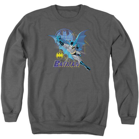 Batman Cape Outstretched Adult Crewneck Sweatshirt
