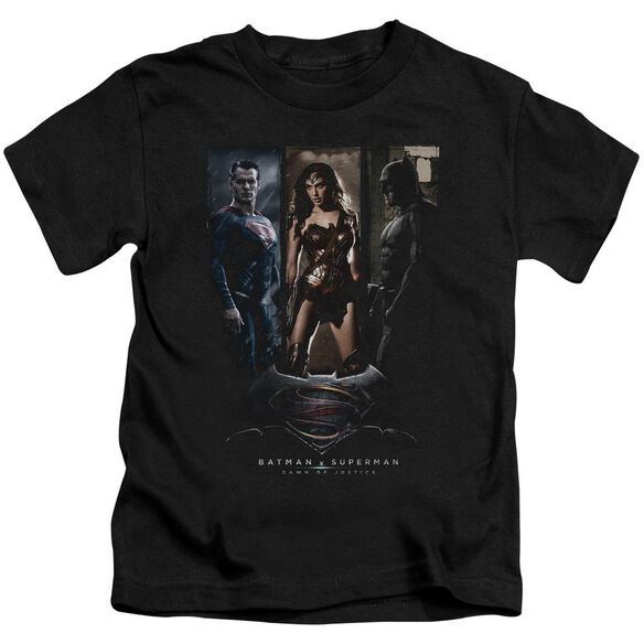 Batman V Superman 3 Phases Short Sleeve Juvenile Black T-Shirt