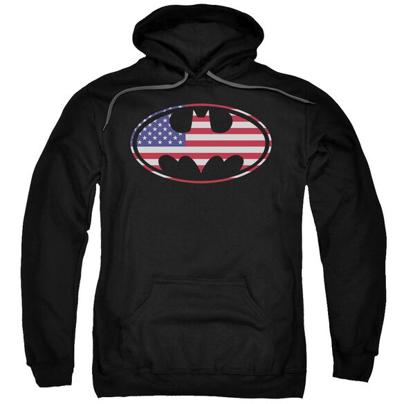 Batman American Flag Oval Adult Pull Over Hoodie