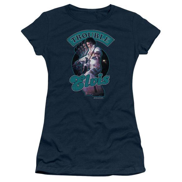 Elvis Total Trouble Short Sleeve Junior Sheer T-Shirt