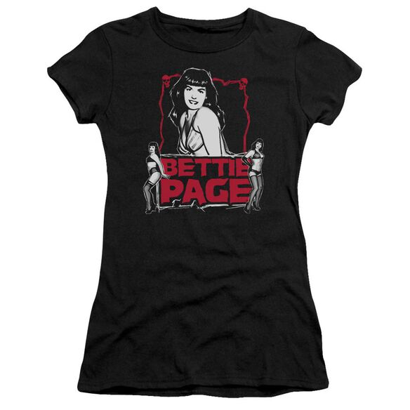 Bettie Page Bettie Scary Hot Premium Bella Junior Sheer Jersey