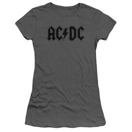Acdc Worn Logo Short Sleeve Junior Sheer T-Shirt