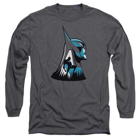 Beware The Batman Head Long Sleeve Adult T-Shirt