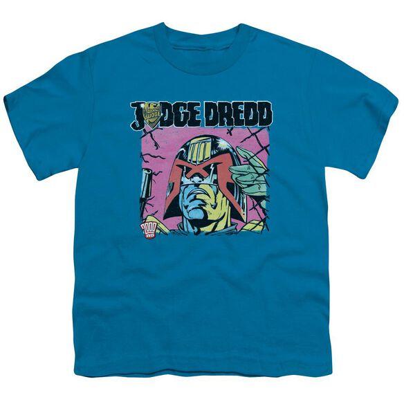 Judge Dredd Fenced Short Sleeve Youth T-Shirt