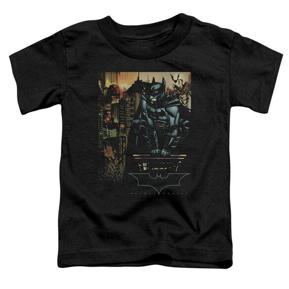 Batman Begins Waiting Short Sleeve Toddler Tee Black T-Shirt