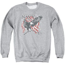 Navy Trident Adult Crewneck Sweatshirt Athletic