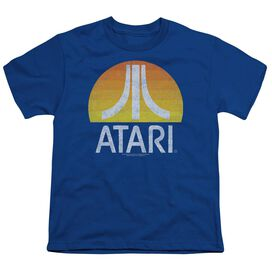 Atari Sunrise Eroded Short Sleeve Youth Royal T-Shirt