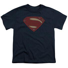 Batman V Superman Super Movie Logo Short Sleeve Youth T-Shirt