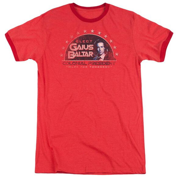 Bsg Elect Gaius Adult Heather Ringer Red