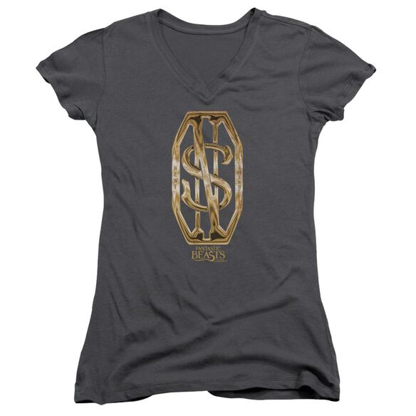 Fantastic Beasts Scamander Monogram Junior V Neck T-Shirt