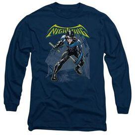 Nightwing Under Logo Long Sleeve T-Shirt