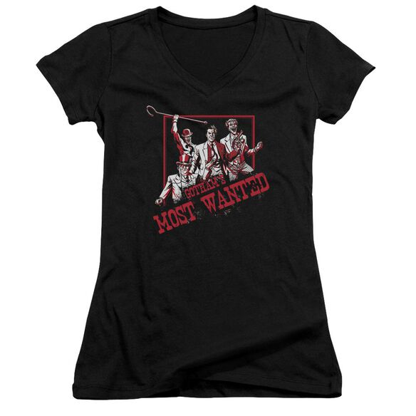 Batman Gotham's Most Wanted Junior V Neck T-Shirt