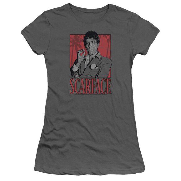 Scarface Tony Short Sleeve Junior Sheer T-Shirt