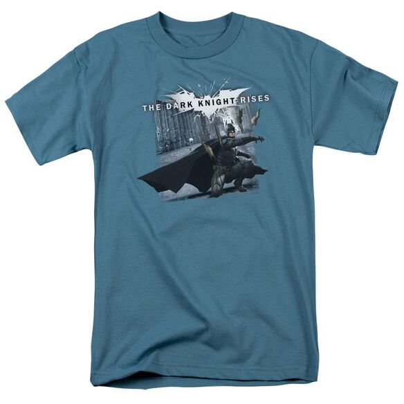 Dark Knight Rises Batarang Throw Short Sleeve Adult T-Shirt