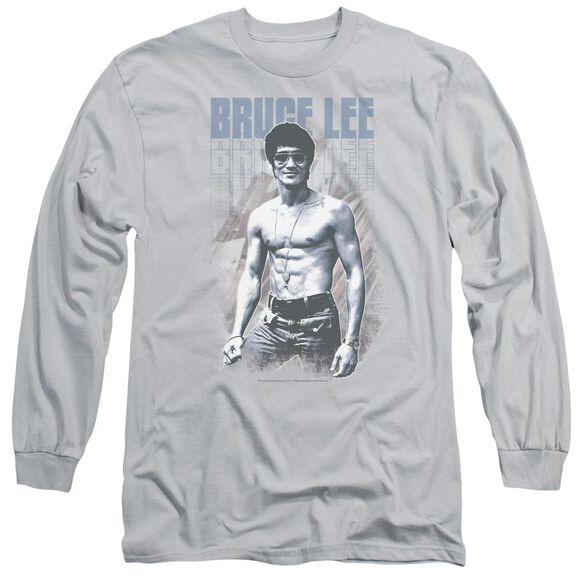 Bruce Lee Blue Jean Lee Long Sleeve Adult T-Shirt