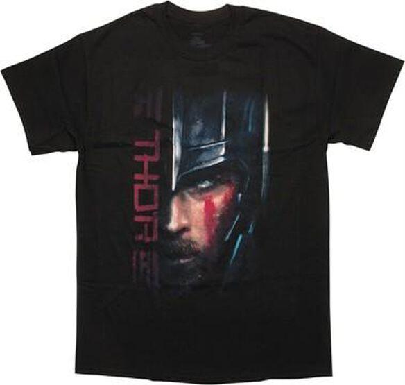 Thor Ragnarok Half Helmet Logo T-Shirt