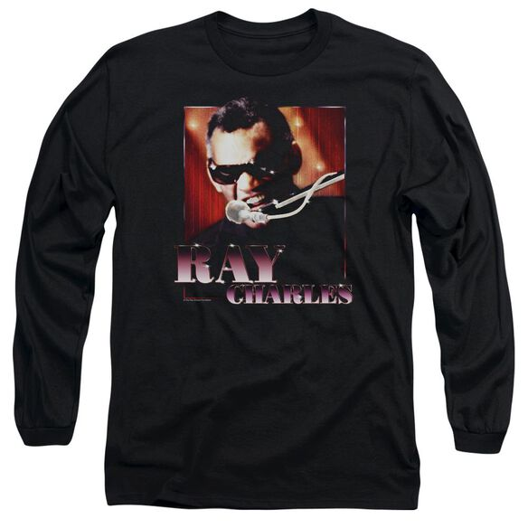 Ray Charles Sing It Long Sleeve Adult T-Shirt