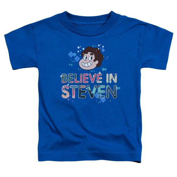 Steven Universe Believe Short Sleeve Toddler Tee Royal Blue T-Shirt