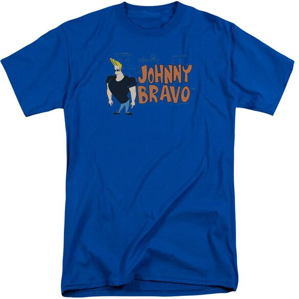 Johnny Bravo Johnny Logo Short Sleeve Adult Tall Royal T-Shirt
