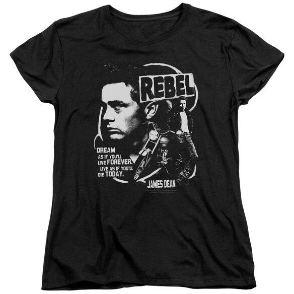 Dean Rebel Cover Short Sleeve Womens Tee T-Shirt