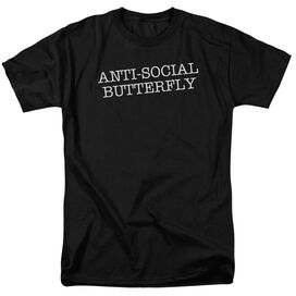 Antisocial Butterfly Short Sleeve Adult T-Shirt