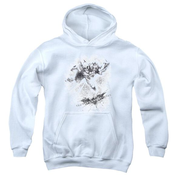 Dark Knight Rises Penciled Knight Youth Pull Over Hoodie