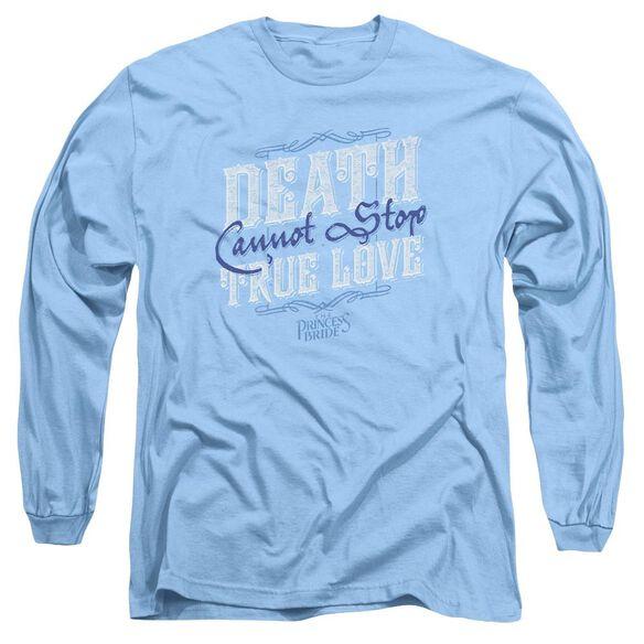 Princess Bride Love Over Death Long Sleeve Adult Carolina T-Shirt