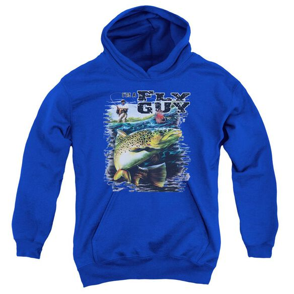 Wildlife Im A Fly Guy Youth Pull Over Hoodie