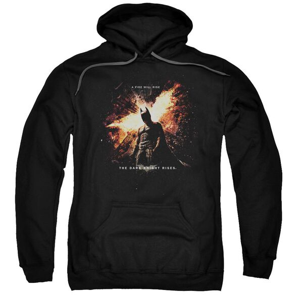 Dark Knight Rises Fire Will Rise Adult Pull Over Hoodie