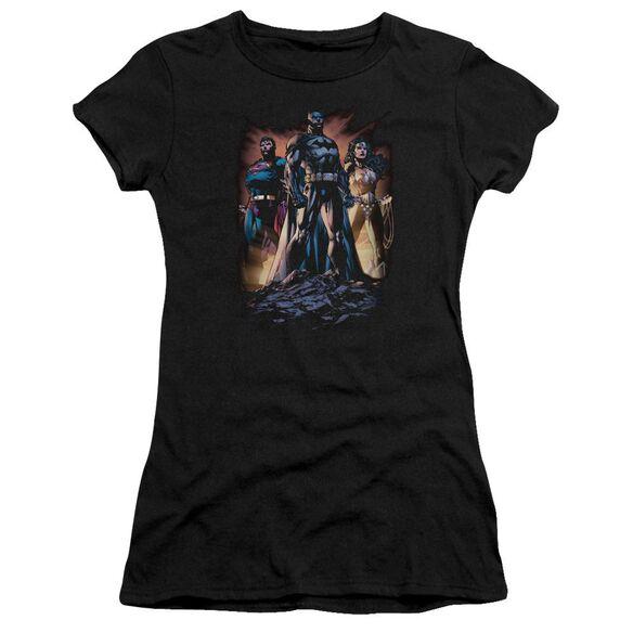 Jla Take A Stand Short Sleeve Junior Sheer T-Shirt