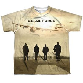 Air Force Long Walk Short Sleeve Youth Poly Crew T-Shirt