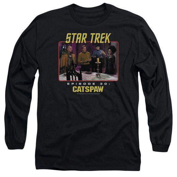 Star Trek Original Cats Paw Long Sleeve Adult T-Shirt
