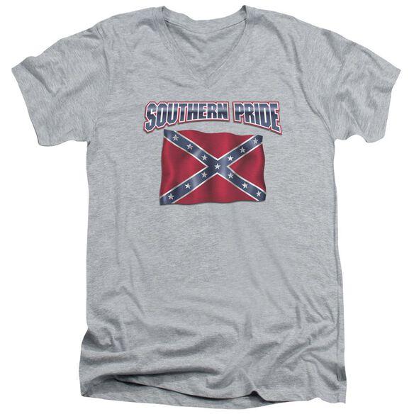 Sourthern Pride Short Sleeve Adult V Neck Athletic T-Shirt