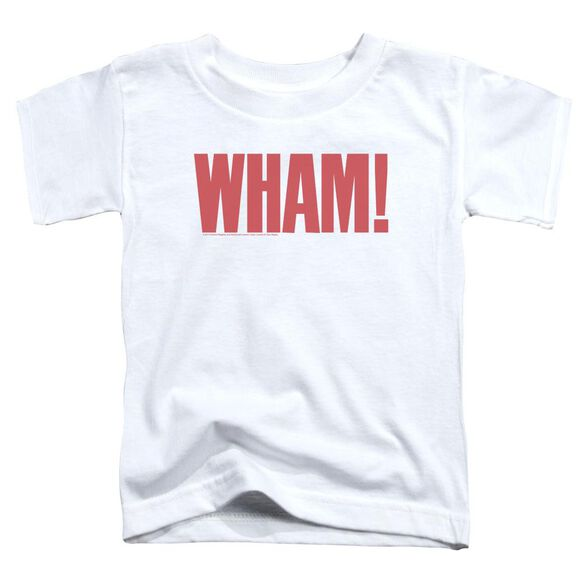 Wham Logo Short Sleeve Toddler Tee White T-Shirt