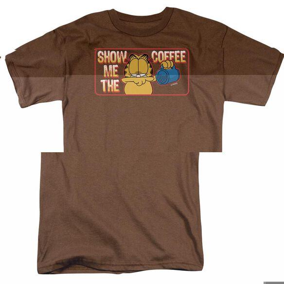 GARFIELD SHOW ME THE COFFEE - S/S ADULT 18/1 - COFFEE T-Shirt