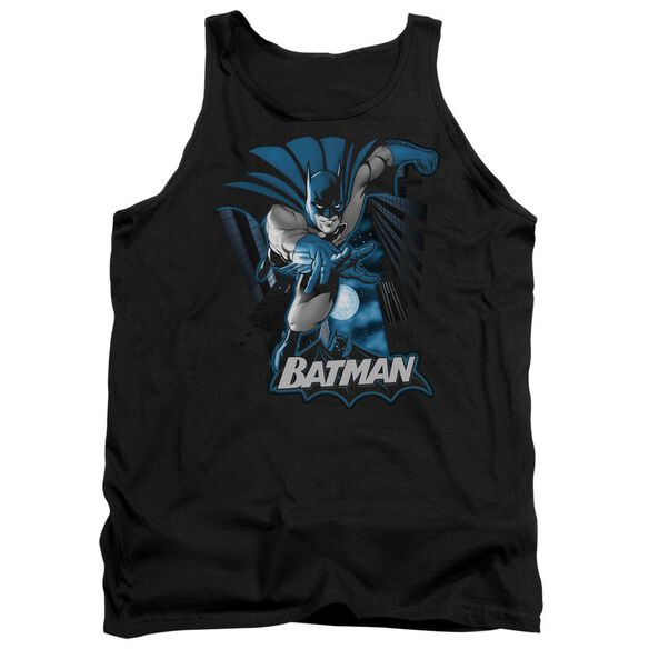 Jla Batman Blue & Gray Adult Tank