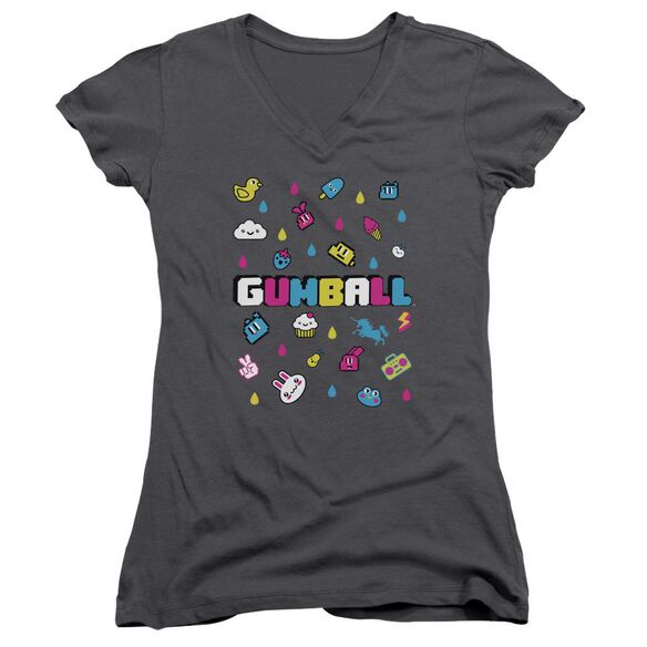 Amazing World Of Gumball Fun Drops Junior V Neck T-Shirt