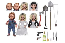 NECA Bride of Chucky Ultimate Chucky & Tiffany 7″ Scale Action Figure [2-pack]