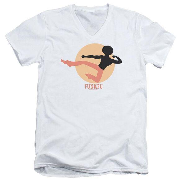 FUNK FU - ADULT V-NECK - WHITE T-Shirt