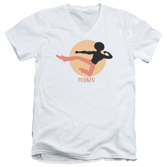 Funk Fu Short Sleeve Adult V Neck T-Shirt