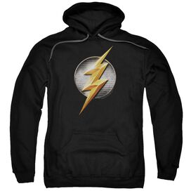 Justice League Movie Flash Logo Adult Pull Over Hoodie Black