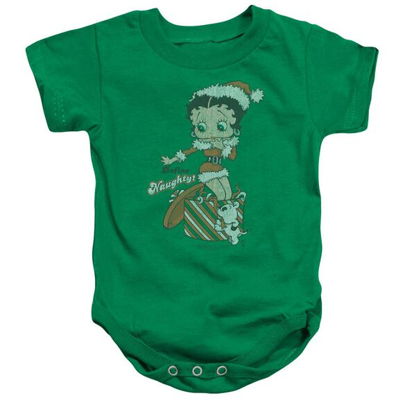 Betty Boop Define Naughty Infant Snapsuit Kelly Green