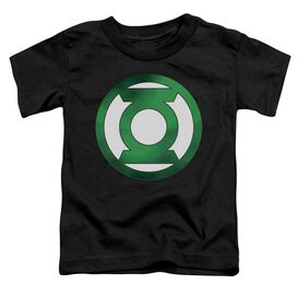Green Lantern Green Chrome Logo Short Sleeve Toddler Tee Black Lg T-Shirt