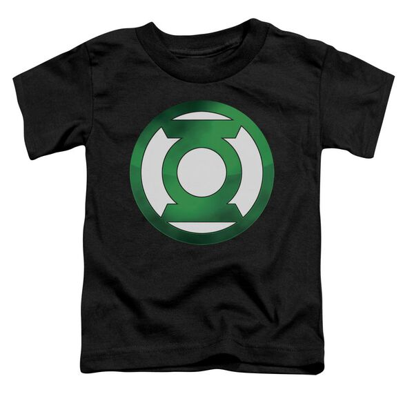 Green Lantern Green Chrome Logo Short Sleeve Toddler Tee Black Lg T-Shirt