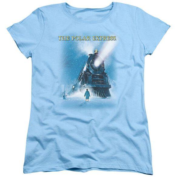 Polar Express Big Train Short Sleeve Womens Tee Light T-Shirt